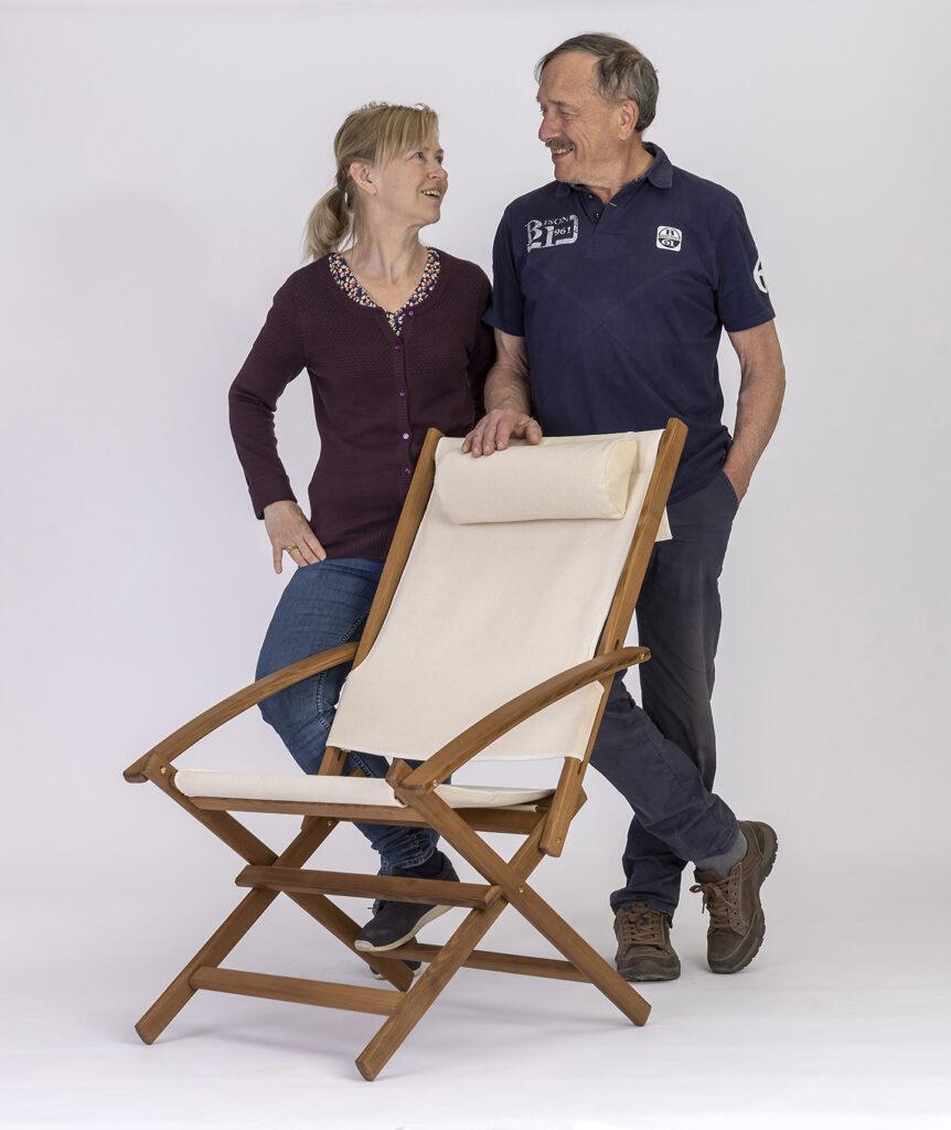 Deck chair in Ashwood